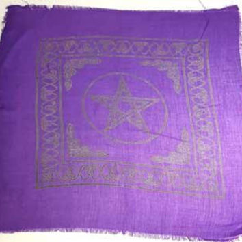 "Pentagram Altar Cloth 22"" X 22"""