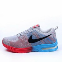 NIKE Trending Fashion Air cushion of screen couple Casual Sports Shoes Blue-red-1