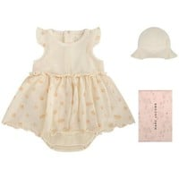 Little Marc Jacobs Baby Girls Ivory Two-piece Gift Set