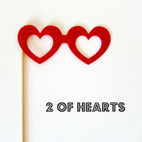 Photobooth prop KIT Two of Hearts by KittyDuneCuts on Etsy