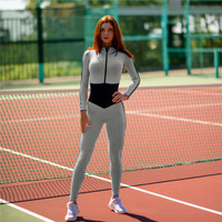 2016 Trending Fashion Women Sport Suit Fitness Sportswear Stretch Exercise Yoga Pants Jumpsuit _ 10425