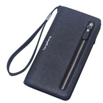 Wristlet Travel Women Long Wallet Double Zipper