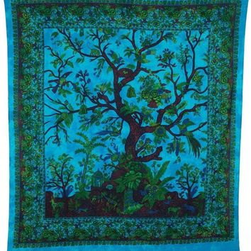 #1 Tree of life Tapestry Bedspread Wall Art Beach Towel Yoga Mat