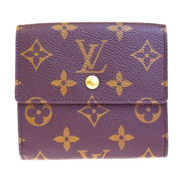 Auth LOUIS VUITTON Elise Trifold Wallet Purse Monogram Leather M61654 BN 07EC227
