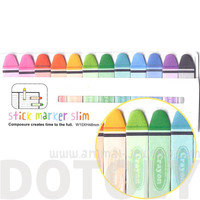 Coloring Crayon Pencils Shaped Back to School Themed Memo Pad Post-it Index Sticky Bookmark Tabs