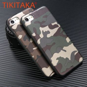 Fashion Army Phone Cases For iphone 7 6 6s plus 8 8 plus Camo Camouflage Pattern Back Cover Soft TPU Case fundas phone shell