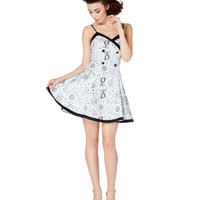 Voodoo Vixen Nautical Circus Flare Dress