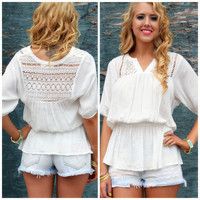 Royalty Reign Ivory Peasant Tunic