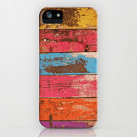 Vintage Colored Wood 2 iPhone & iPod Case by Maximilian San