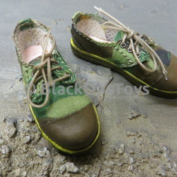 DID Chinese People's Armed Police Force Woodland Camo Shoes