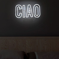 Ciao Neon Sign by Oliver Gal at Gilt