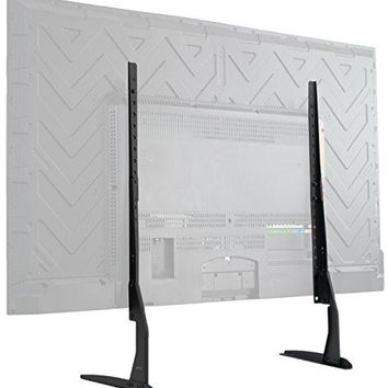"VIVO Universal LCD Flat Screen TV Table Top VESA Mount Stand Black | Base fits 22"" to 65"""