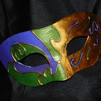 Mardi Gras Mask in Purple, Green and Gold