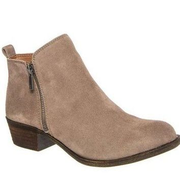 MDIGYW3 Lucky Brand Basel Brindle Suede Booties