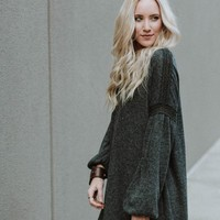 Cozy Soft Bubble Sleeve Dress