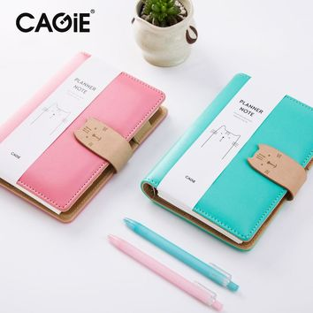 Cute Notebook and Journal CAGIE Cute Cat Bullet Journals a6 Notebook Paper Binder Spiral Diary Kawaii Leather Sketchbook Planner
