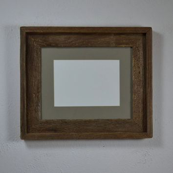 Beautiful barnwood frame for 8x10 or 5x7 photos free shipping