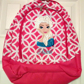 Frozen Princess Elsa Toddler Preschool Backpack Bookbag  FREE PERSONALIZATION Dance Bag Overnight Bag Back to School Small Backpack Church