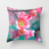 Soft and pink Throw Pillow by Pirmin Nohr
