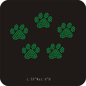 Mini paw prints You PICK the COLOR iron on by LaLaBoutiqueBling