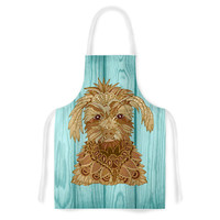 """Art Love Passion """"Gatsby the Great"""" Brown Dog Artistic Apron"""