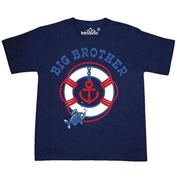 inktastic Nautical Big Brother Youth T-Shirt Youth X-Small (2-4) Navy