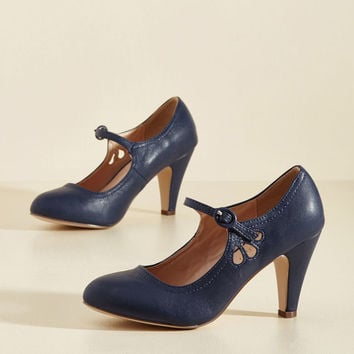 Jive O'Clock Somewhere Mary Jane Heel in Navy