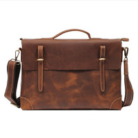 Sophisticated Handmade Leather Messenger Bag