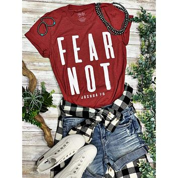Fear Not Joshua 1:9 Graphic Tee (XS-2XL)