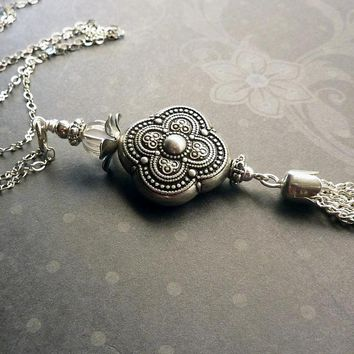 Antique Silver Tassel Necklace