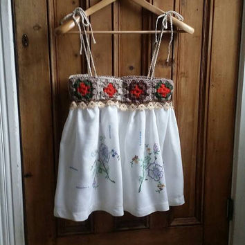 Boho sleeveless cami top Dolly Topsy Etsy UK