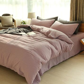 On Sale Bedroom Comfortable Hot Deal Home Bedding Double-layered Plaid Bed Sheet [45985693721]