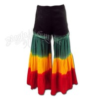 Rasta Black Bell Bottom Pants - Women's @ RastaEmpire.com