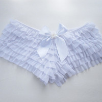 FURIRU (I) Ruffle panties with bow and flower