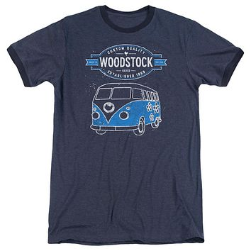 Woodstock Van Retro Ringer Adult T-Shirt