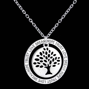 Charm Silver Tree of Life ~ Pendant Necklace  Family Tree 02