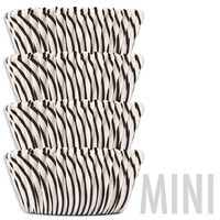 Mini Black Candy Stripe Baking Cups