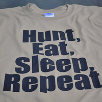 Hunting T-shirt funny hunter men women youth teen tan screenprint tshirt gift for husband boyfriend brother father dad