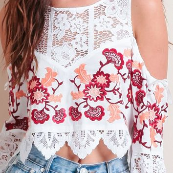 Cecilia Crop Top By For Love & Lemons | Threadsence
