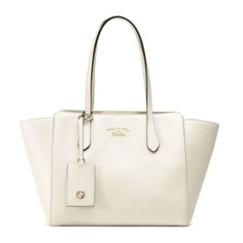 Gucci Swing Leather Medium Off-white Tote Handbag - Free Shipping Today - Overstock.com - 20162835 - Mobile