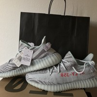 Come With Box Yeezy Boost 350 V2 Blue Tint Size 13 100% Authentic w Receipt + Tags DS