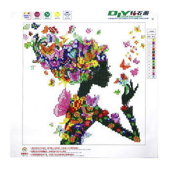 5D Beauty Butterfly Lady Diamond Embroidery Painting Cross Stitch DIY Home Decor