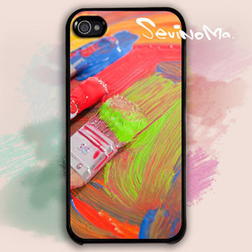 iPhone 4 Case,  iphone 4s case, paintbrush Design iphone hard case