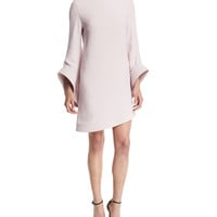 Brandon Maxwell Mock-Neck Bell-Sleeve Dress