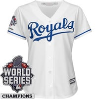 Kansas City Royals Women's Cool Base® Jersey with 2015 World Series Champions Patch - MLB.com Shop