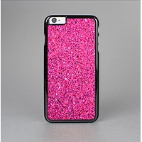 The Pink Sparkly Glitter Ultra Metallic Skin-Sert for the Apple iPhone 6 Plus Skin-Sert Case