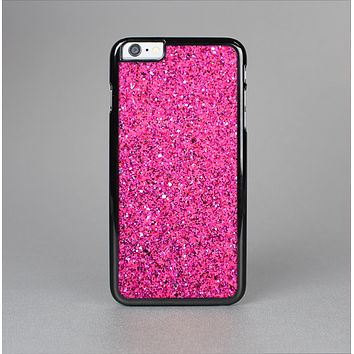 The Pink Sparkly Glitter Ultra Metallic Skin-Sert Case for the Apple iPhone 6 Plus
