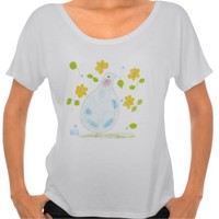 Peace Dove with yellow flowers t-shirt