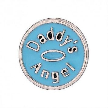 Floating Daddy's Angel Charm Compatible With Origami Owl Lockets