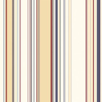 Brewster Wallpaper BBC58516 Charles Cream Lookout Stripe